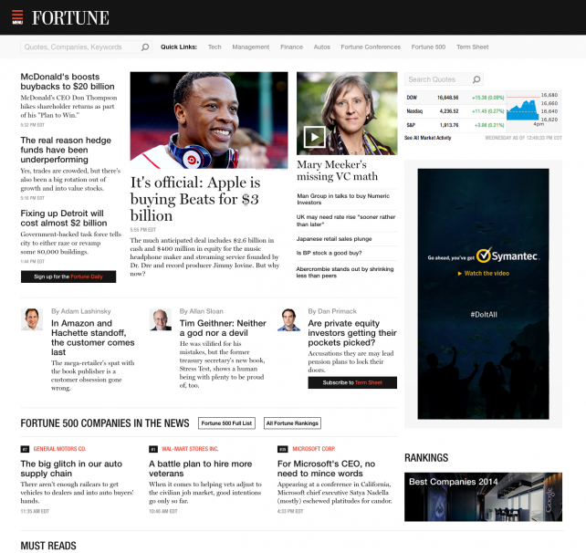 Fortune and Money finally have websites of their own.