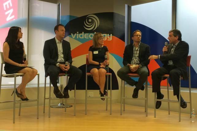Ad Age reporter Jeanine Poggi, CBS Interactive executive Mark DeBevoise, Starcom USA President Amanda Richman, Roku exec Scott Rosenberg and Videology CEO Scott Ferber