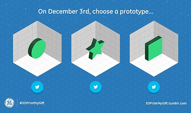 GE Designates Dec. 3 as '3D Printing Day,' 3D-Prints Xmas Gifts