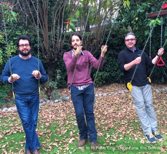 From left: Gloria Founders Pablo Cruz, Diego Luna and Eric Bonniot