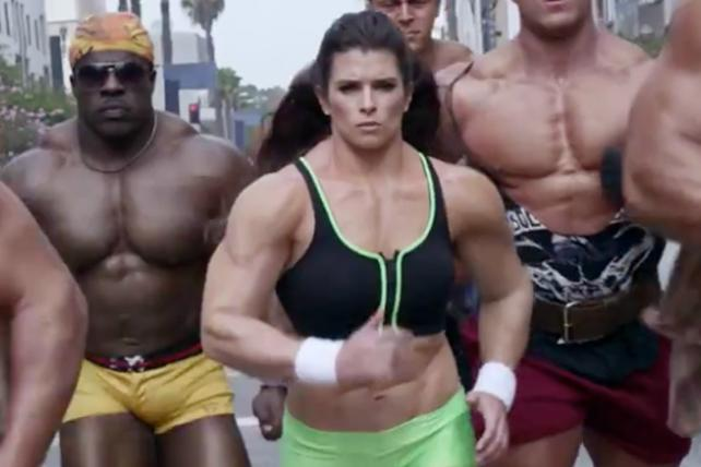 Danica Patrick bulks up for GoDaddy.