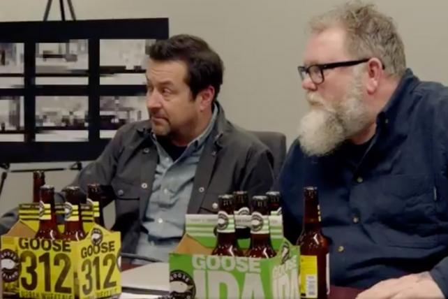 Goose Island execs ask their bosses at Anheuser-Busch InBev to spread the Super Bowl love around.