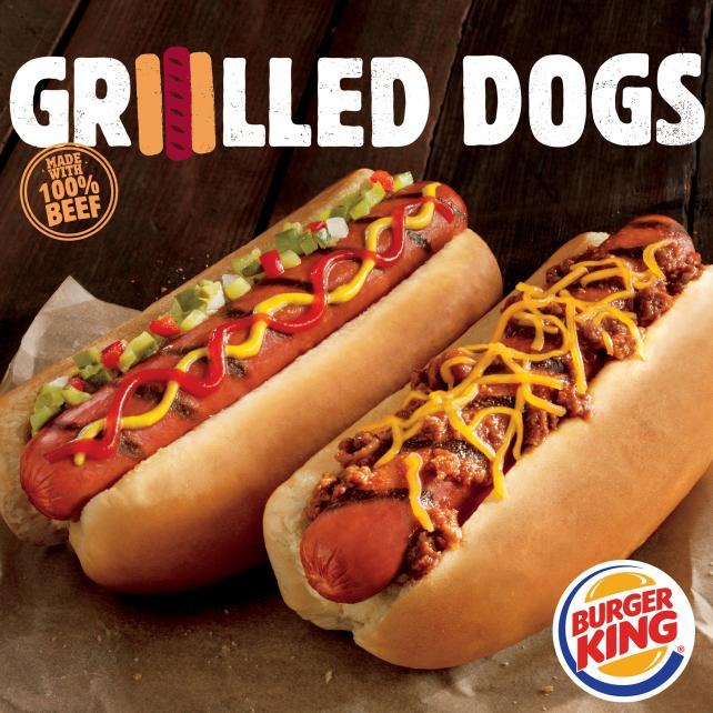 The new Grilled Dogs will come in two versions and are considered a premium product for Burger King