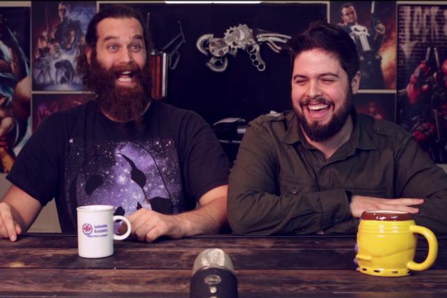 Harley Morenstein, who will host YouTube's Super Bowl halftime show, and Dave Heuff