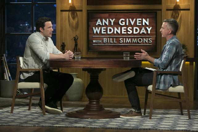 Ben Affleck and Bill Simmons on the premiere of 'Any Given Wednesday.'