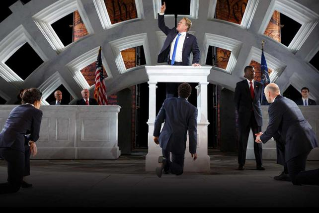 The new Shakespeare in the Park production of 'Julius Caesar.'