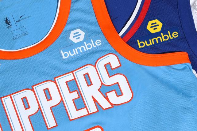 BUMBLE, THE WOMEN-FIRST DATING APP, PINS LOGO TO CLIPPERS UNIFORMS FOR $20 MILLION