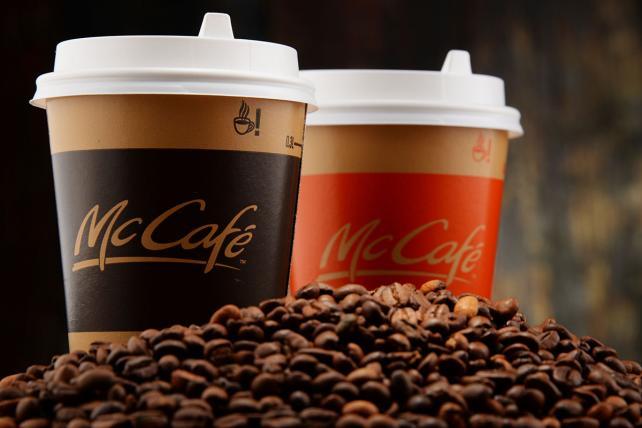 McCafé beverages at McDonald's.