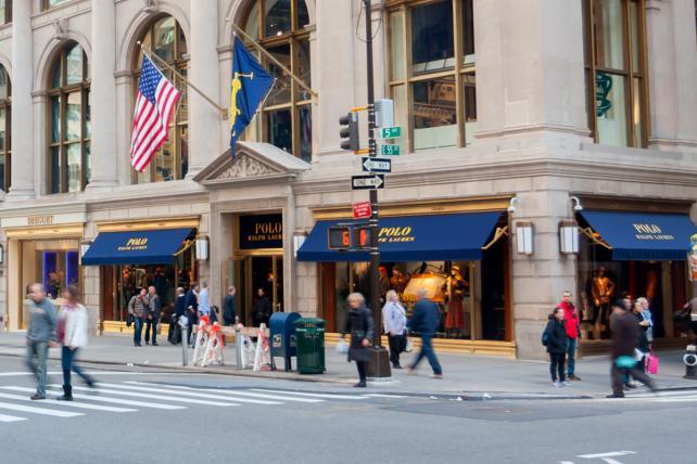 The Fifth Avenue Polo Ralph Lauren store in Manhattan.