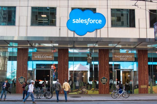Salesforce gives rosy revenue forecast on string of acquisitions