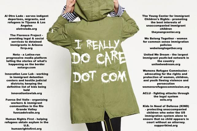 Ireallydocare.com set up to counter Melania Trump's jacket stunt
