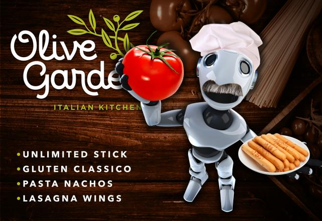 'Lasagna wings with extra Italy': If a bot wrote an Olive Garden commercial