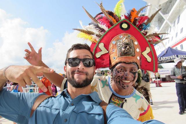 Josh Garcia (left), host of 'The Voyager with Josh Garcia.'