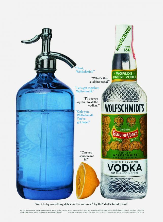 Wolfschmidt Vodka, 1962