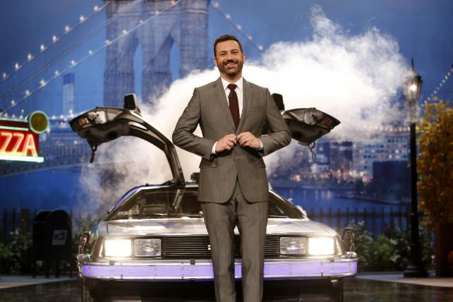 Jimmy Kimmel at a taping of 'Jimmy Kimmel Live' in Brooklyn.