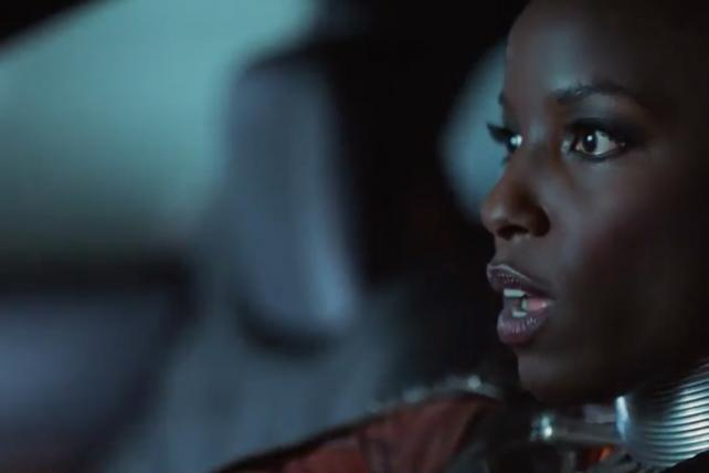 A scene from Lexus's Super Bowl ad starring characters from Marvel's 'Black Panther' movie.