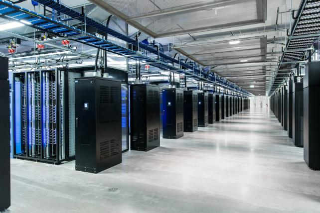 Facebook's data center in Luleå, Sweden. The company is emphasizing ad sales pegged to the vast amount of information it has on its users.