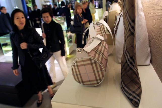 The traditional Burberry plaid.
