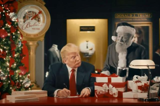 Macy's holiday ad featuring Donald Trump