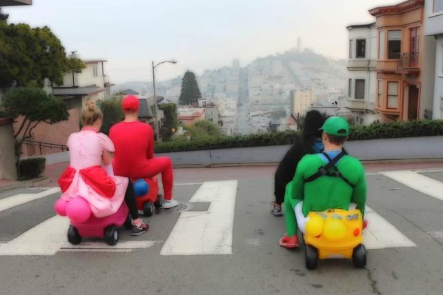 A Real-Life Super Mario Kart Race in SF Wins This Week's Viral Chart