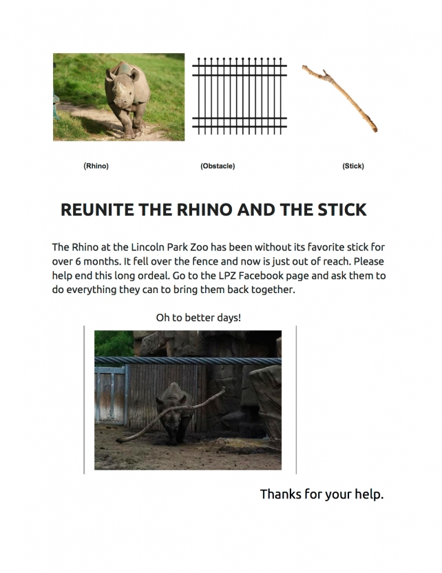 Former Crispin Creative Seeks to Reunite Zoo Rhino with its Favorite Toy