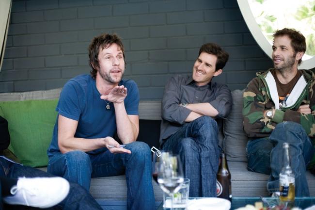 HSI's Matt Piedmont with Joe Kosinski (center) and Zack Snyder (right)