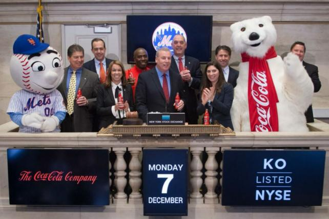 The Mets and Coca-Cola announce their new sponsorship deal on Monday.