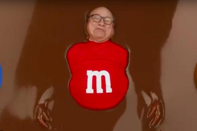 Danny DeVito played the humanized form of Red M&M in a 2018 Super Bowl ad.
