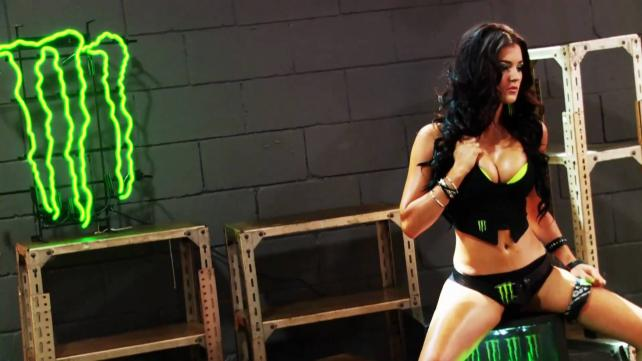 The energy drink brand promotes its Monster Energy Girls at events.