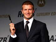 Beckham Bends One for Motorola