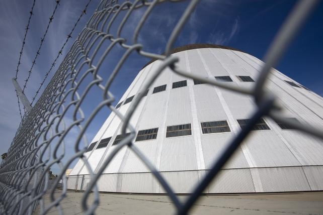 Moffett Field Hanger at Moffett Field in Mountain View, Calif.