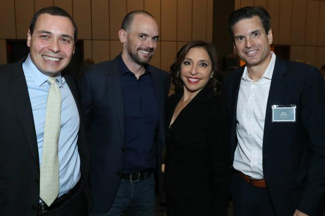 Analyst Brian Wieser, Fox Network Group President of Ad Revenue Joe Marchese, NBC Universal Chairman of Ad Sales and Client Partnerships Linda Yaccarino and NBCU Media Executive VP for Portfolio Sales and Strategy Mike Rosen.