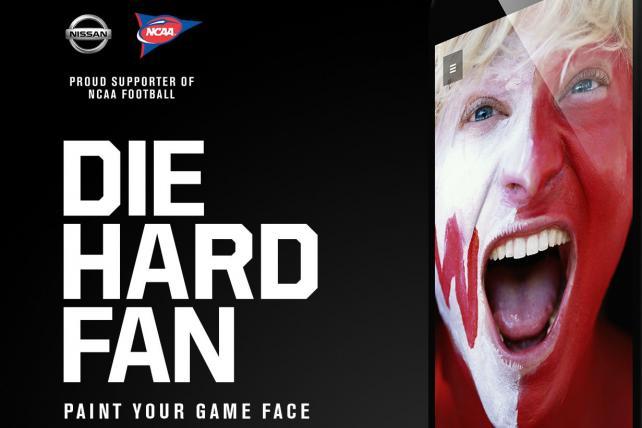 Nissan's 'Diehard Fan' virtual face-painting app