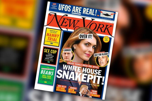 New York Magazine gives the Trump White House the supermarket tabloid cover treatment it deserves