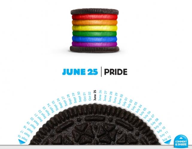 Oreo daily twist gay pride 2012
