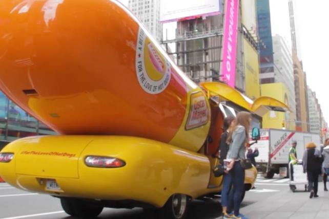 VIDEO: Inside the Wienermobile as Oscar Mayer Touts New Dogs