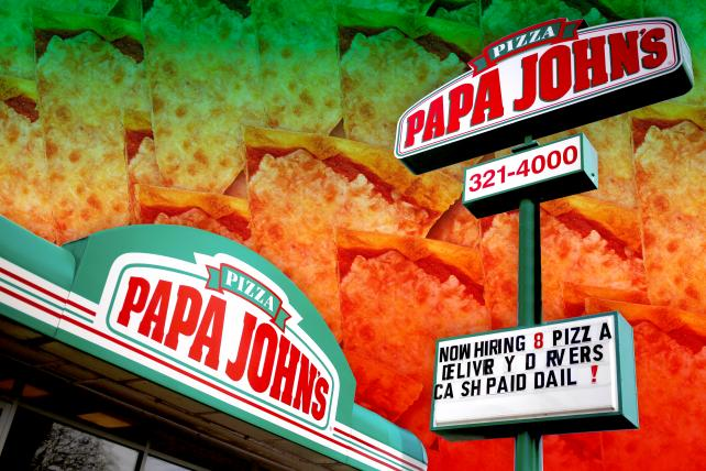 Papa John's ad puts real employees to work repairing its brand