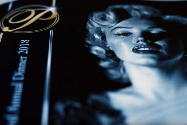 The brochure for the Presidents Club Charity Dinner, as seen in a video by The Financial Times.