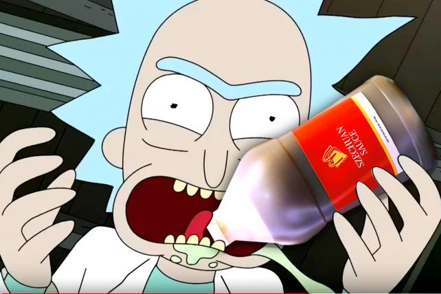 Rick from 'Rick and Morty' revealed an obsession with McDonald's Szechuan dipping sauce.