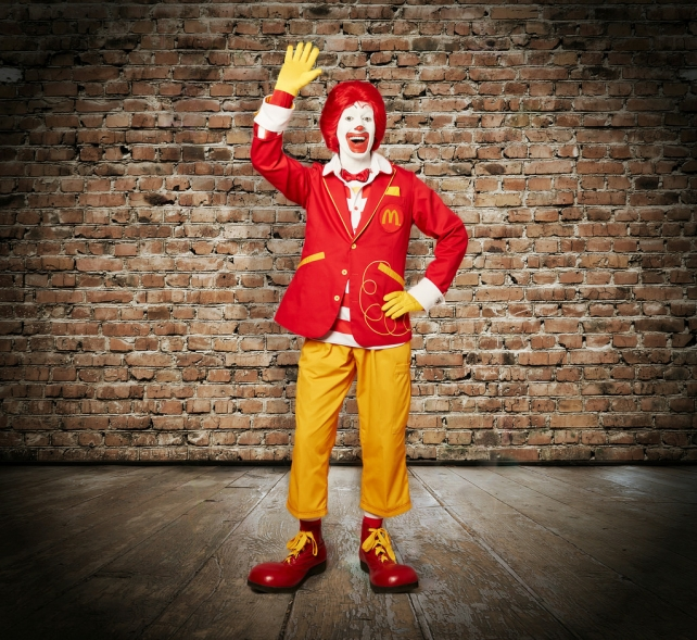 The second of Ronald McDonald's new looks.