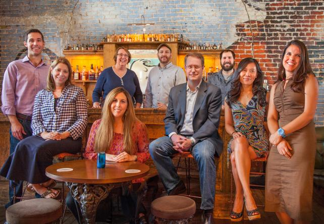 From left: Sparky Witte, group account director; Carolyn Fisher, group media director; Jocelyn Friedman (front row), group account director; Jane Byram (back row), group media eirector; Craig Mikes, exec creative director-owner; Bryan Christian, president-owner; George Ellis, creative director; Ly Tran, director-digital strategy and architecture; Elissa von Czoernig, account director.