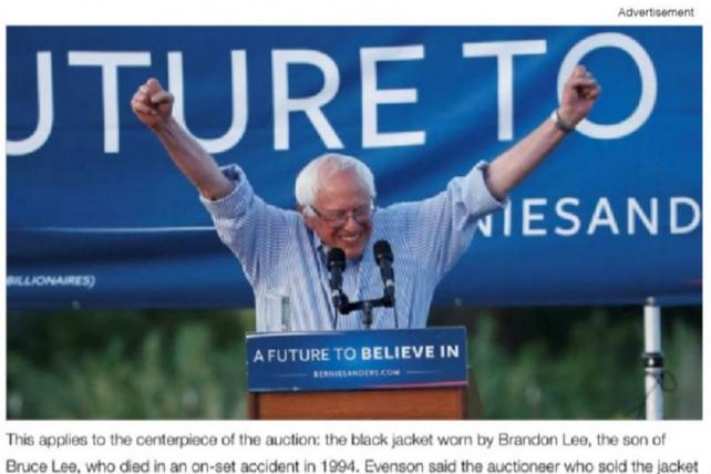 A Bernie Sanders ad featured a rally live-stream.