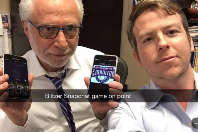 Wolff Blitzer and Peter Hamby