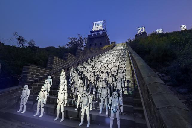 Stormtroopers lined the Great Wall in a publicity stunt last fall