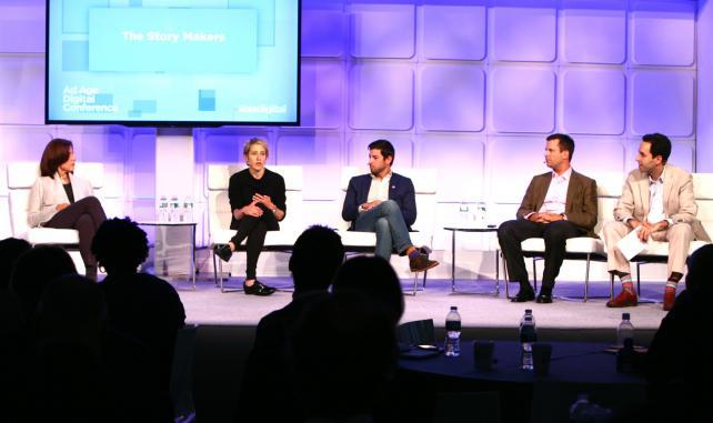 Ann Lewnes, Adobe; Ashley Kaplan, Fullscreen; Eric Hirschhorn, Burger King; Chris Curtin, Visa; and David Berkowitz, MRY, at the Ad Age Digital Conference.