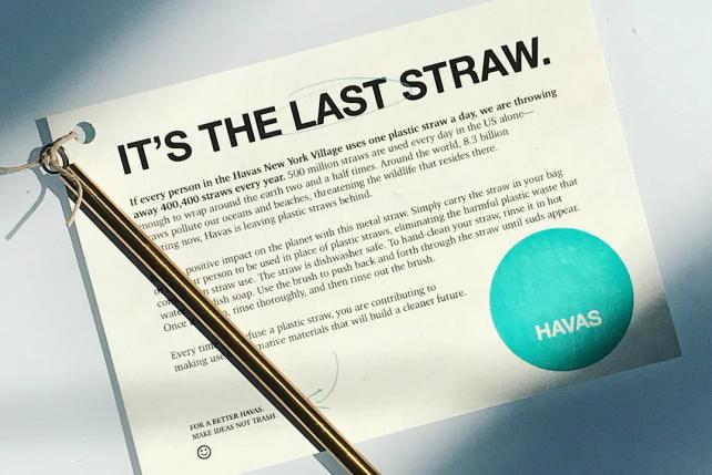 Havas New York interns help company go green -- starting with the straws