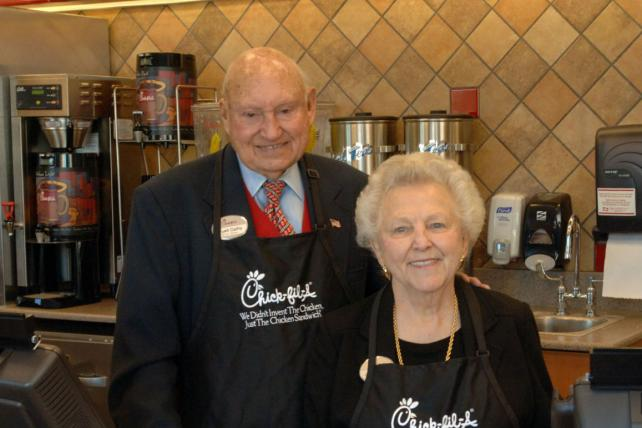 Chick-fil-A founder S. Truett Cathy and wife Jeannette McNeil Cathy
