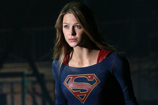 Melissa Benoist as the title character in CBS's 'Supergirl.'