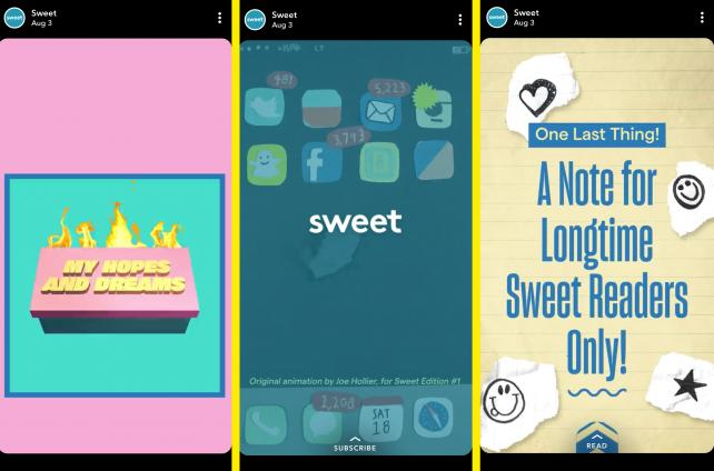 Sweet, Hearst's Snapchat media property, pivots to video