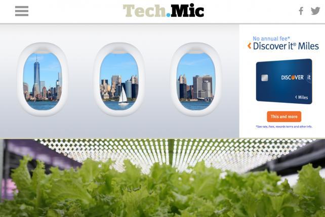 An ad unit on Mic.com.